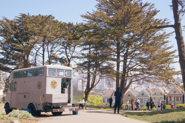 Lady Falcon Coffee Truck Alamo Square Park Painted Ladies San Francisco Emme Hope Slow Blog